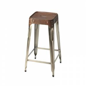 Butler Specialty Industrial Chic 27 Bar Stool in Brown