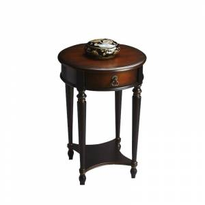 Butler Specialty Traditional Round Accent Table in Cafe Noir