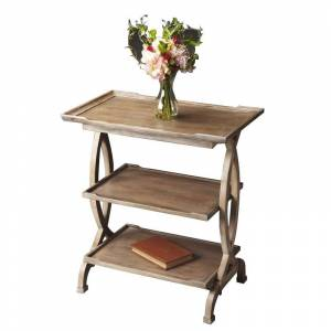 Butler Specialty Loft Transitional Side Table in Distressed Driftwood