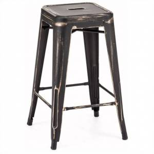 Zuo Marius 26 Counter Stool in Antique Black Gold (Set of 2)