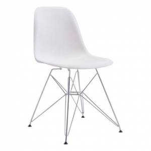 Zuo Zip Dining Chair in White