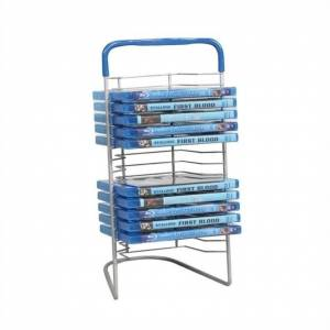 Atlantic Inc 15 Blu-Ray Nestable Tower in Silver and Blue