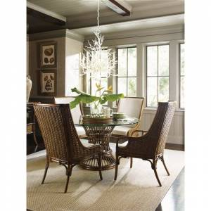 Tommy Bahama Home Tommy Bahama Bali Hai 5 Piece Dining Set in Warm Brown