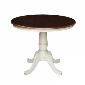 International Concepts 36 Round Top Pedestal Table - 28.9H