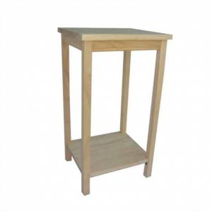 International Concepts Unfinished Accent Table Ready To Assemble