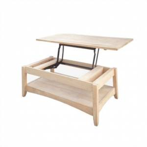 International Concepts Unfinished Bombay Coffee Table with Lift Top