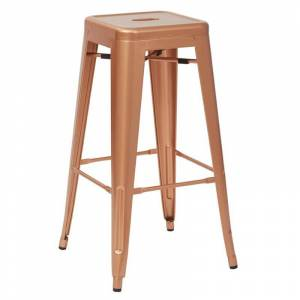 Office Star Bristow 30 inch Antique Metal Barstool Copper 2 -Pack