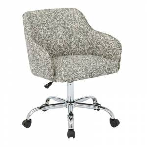 Office Star Bristol Task Chair with Veranda Pewter Fabric