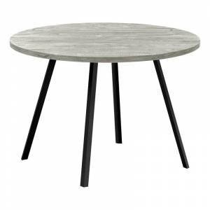 Monarch 47.25 Round Contemporary Wood Top Dining Table in Reclaimed Gray
