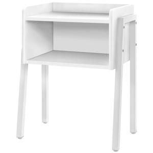Monarch 2 Shelf Modern Sleek Wooden Airy Side Table in White