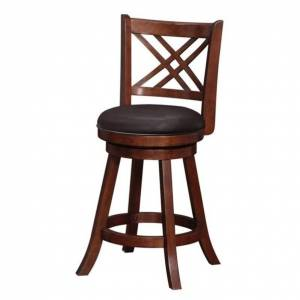 Boraam Porto 24 Swivel Counter Stool in Hazelnut