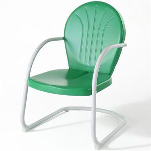 Crosley Furniture Crosley Griffith Metal Patio Chair in Grasshopper Green