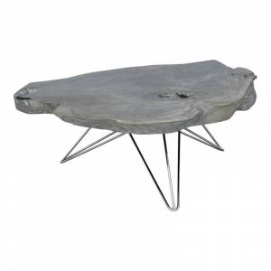 Moe's Home Collection Moe's Home Tundra Wood Coffee Table in Gray