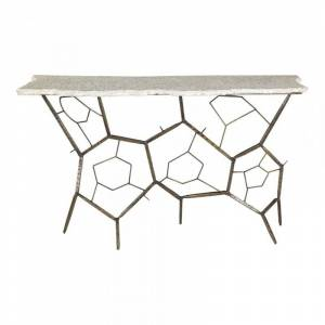 Moe's Home Collection Moe's Home Positano Terrazzo Console Table in White