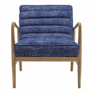 Moe's Home Collection Moe's Home Adeline Upholstered Accent Chair in Blue