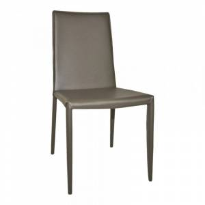 Moe's Home Collection Moe's Lusso Dining Chair in Charcoal (Set of 2)
