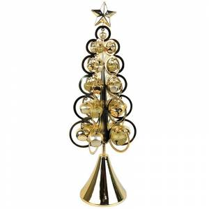 Jeco Inc. Jeco 18 Metal Christmas Bell Tree Table Decor in Gold