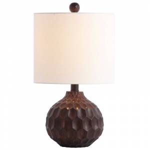 Safavieh Lucca Table Lamp in Brown and Off White
