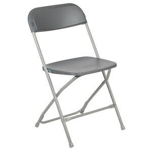 Flash Furniture Hercules Plastic Folding Chair in Gray