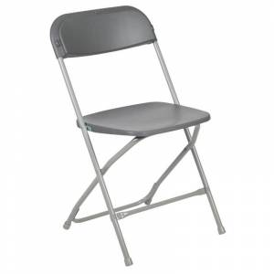Flash Furniture Hercules Plastic Folding Chair in Gray