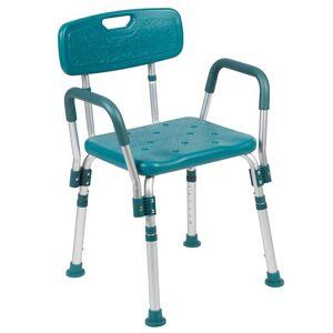 Flash Furniture Hercules Plastic Quick Release Bath Chair in Teal
