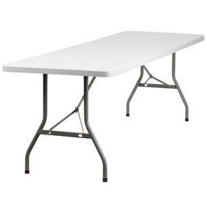 Flash Furniture 96 x 30 Plastic Folding Table in White