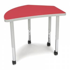 OFM Adapt 28 Crest Mobile Training Table in Red