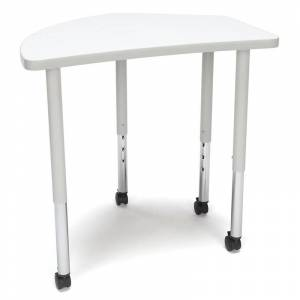 OFM Adapt 33 Crest Mobile Training Table in White
