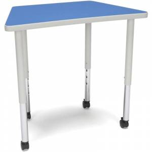 OFM Adapt 33 Trapezoid Mobile Training Table in Blue