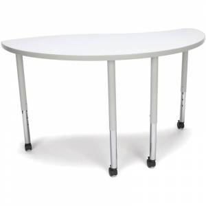 OFM Adapt 33 Ying Mobile Training Table in White