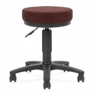 OFM Backless Fabric Adjustable Drafting Stool in Burgundy