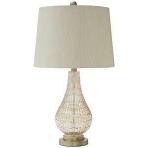 Ashley Furniture Latoya Glass Table Lamp in Champagne