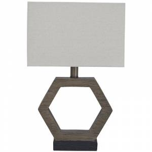 Ashley Furniture Marilu Poly Table Lamp in Gray and Brown