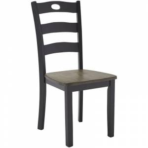 Ashley Furniture Froshburg Dining Side Chair in Gray