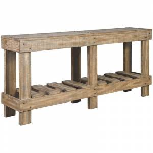 Ashley Furniture Ashley Susandeer Console Table in Light Brown