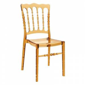 Compamia Opera Patio Dining Chair in Transparent Amber