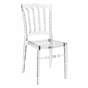 Compamia Opera Patio Dining Chair in Transparent Clear