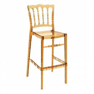 Compamia Opera 29.5 Outdoor Bar Stool in Transparent Amber