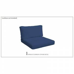 TK Classics Covers for Chair Cushions 4 Thick in Navy