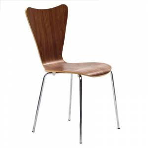 Modway Ernie Dining Side Chair in Walnut