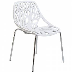 Modway Stencil Dining Side Chair in White