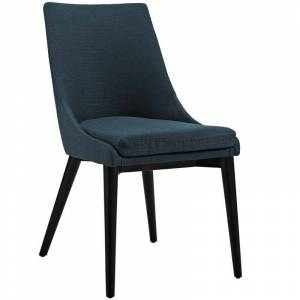 Modway Viscount Fabric Upholstered Dining Side Chair in Azure