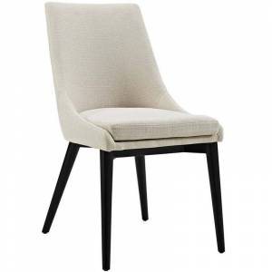 Modway Viscount Fabric Upholstered Dining Side Chair in Beige