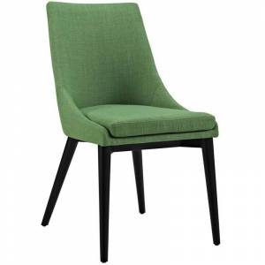 Modway Viscount Fabric Upholstered Dining Side Chair in Green