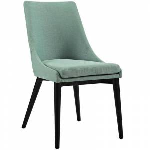 Modway Viscount Fabric Upholstered Dining Side Chair in Laguna