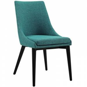 Modway Viscount Fabric Upholstered Dining Side Chair in Teal