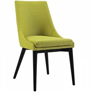 Modway Viscount Fabric Upholstered Dining Side Chair in Wheatgrass