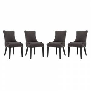Modway Marquis Dining Chair in Brown (Set of 4)