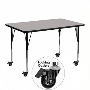 Bowery Hill 31 x 24 High Pressure Top Mobile Activity Table in Gray