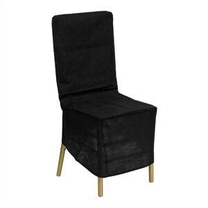 Bowery Hill Black Fabric Chiavari Chair Storage Cover